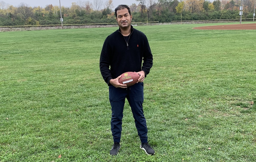Suhail Ahmed is passionate about football and the values he has learned from the game.Photo provided by Suhail Ahmed.
